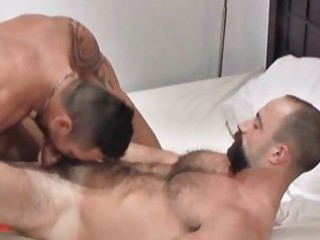Hot beared mature gay stud gets roughly fucked / 121