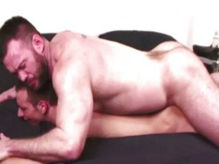Hairy bear pummels young studs ass / 223