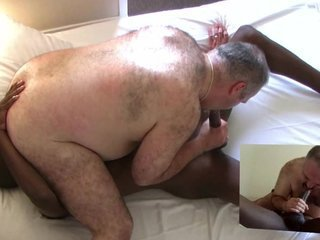 Black guy fucks big hairy bear / 5948