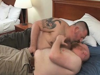 Slutty gay bears Bo Tucker and Ben / 576