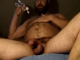 Bear with a Dildo &; wanking / 42